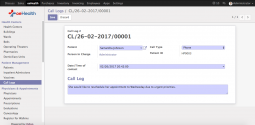 Patient Call Logs (Odoo 10)